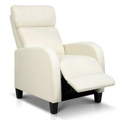 This new recliner accent chair is cozy and comfortable, plush soft foam filling provides the perfect chair to unwind and relax. Upholstered in durable soft linen fabric and filled with high density foam that is non-toxic and hypoallergenic. Fabric Armchairs, Price Comparison, Lounge Furniture, Sit Back, Linen Fabric, Recliner, Australia, Beige, Stuff To Buy