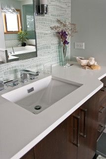Difiniti Quartz Pearl Bathroom Countertops Chicago By Terrazzo Marble Supply Co Remodel
