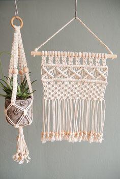 Handmade Mini Macrame Wall Hanging / Modern Macrame by MiniSwells