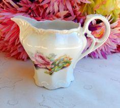 Beautiful Vintage German Porcelain Creamer ~ Roses