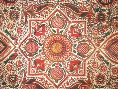 """Indian """"tree of life"""", persian Kalamkari , printed fabrics from Nimes, Marseille or Jouy are better known as """"indiennes"""" ... ( chintz or calico in english). The ancient tradition of painted or printed cotton cloth came from the East and from India in the seventeenth century. At that time, In Europe,... the weaving (was with) hemp, wool and linen for the people, and (for) the upper classes...with velvet, brocade silk and with other precious woven or embroidered fabrics."""