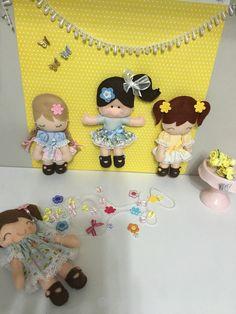 Menininhas decorativas /Feltros por Arte da Menina Flor inspirados em Erica Catarina