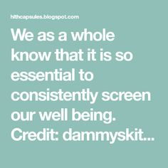 We as a whole know that it is so essential to consistently screen our well being. Credit: dammyskitchen.com Yet in addition, just a ...