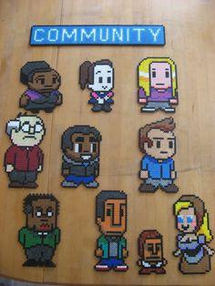 8bit Community Bead Art  One Character by AaronsBeadShop on Etsy, $20.00