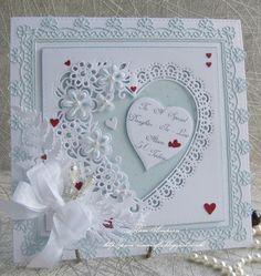 Creación Decoupage no Die Cut pastel de bodas para tarjetas /& Craft