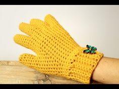 كروشيه جوانتى   قفازات بالاصابع بطريقه سهله للمبتدئين   خيط وابرة   crochet gloves with fingers - YouTube