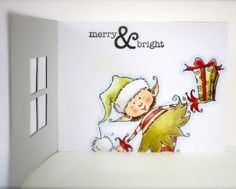 Penny Black Christmas Card by Cathy Andronicou