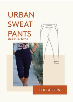 pants PDF sewing pattern for women Kleinigkeiten Nähen, Hose Nähen, Lange  Hosen, Kreative ef3a078cf4