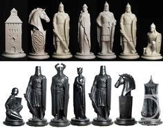 enjoyable ideas cheap chess sets. Could turn old chess pieces into ornaments or use them to decorate  Throne of Kings The Art War chessset gifts kickstarter