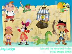 Jake And The Neverland Pirates Clip Art 300DPI PNG By JayJDesign