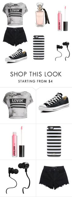 """""""Untitled #62"""" by karenrodriguez-iv on Polyvore featuring Religion Clothing, Converse, H&M, Kate Spade, Monster, T By Alexander Wang, women's clothing, women's fashion, women and female"""