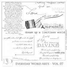Everyday Word Arts Vol 07 by D's Design  #CUdigitals cudigitals.com cu commercial digital scrap #digiscrap scrapbook graphics