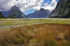 Blick auf den Mitre Peak, Milford Sound, Fiordland, Südinsel, Neuseeland
