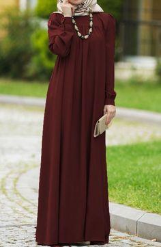 Personally Rob Dress - Claret Red - Personally Rob Dress – Claret Red Informations About Şahsenem Robalı Elbise – Bordo Pin You ca - Muslim Women Fashion, Islamic Fashion, Mode Abaya, Mode Hijab, Abaya Fashion, Fashion Dresses, Outfits Pantalon Negro, Hijab Evening Dress, Hijab Dress