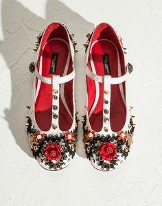 MILEY T-STRAP BALLET FLAT PASSEMENTERIE JACQUARD - Ballet flats - Dolce&Gabbana - Summer 2015