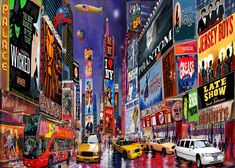 New york city paintings times square new york city art print poster on by n City Framed Art, Framed Art Prints, Poster Prints, Canvas Prints, Canvas Paintings, Art Posters, Salvador, New York Broadway, Times Square New York