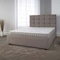 Furniture In Fashion Lawrence Modern Bed In Slate Fabric With Wooden Feet Fabric King Size Bed, Wooden King Size Bed, Bed Frame Sizes, Bed Sizes, Tall Headboard, Headboard And Footboard, Metal Double Bed, Super King Size Bed, Beds For Sale