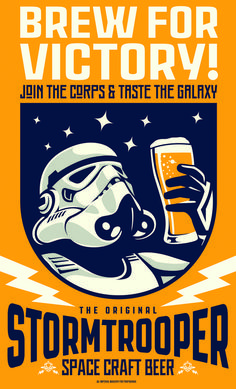 BREW FOR VICTORY! Design for 'Original Stormtrooper Beer' propaganda poster - available to buy very soon! Beer Cartoon, Nerd Decor, Best Gaming Wallpapers, Star Wars Tattoo, Star Wars Fan Art, Star Wars Poster, Space Crafts, Fans, Beer Labels