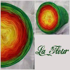 La Fleur: Hochbauschacryl 6 Farben: hellgelb gelb orange rot apfelgrün grün