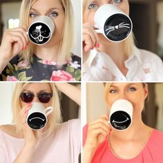 This tutorial is fun and easy way to make an ordinary mug more special. (in French) by leblogdartlex
