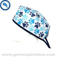 http://www.gorrosquirofano.com/producto/gorros-quirofano-veterinario-huellas-perros-azules/ Gorros Quirofano Veterinario Huellas Perros Azules