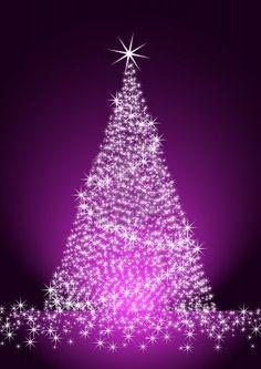 Christmas tree on purple background illustration