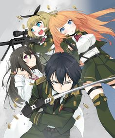 Taimadou Gakuen 35 Shiken Shoutai /// Genres: Action, Ecchi, Fantasy, Harem, Military, Romance, Supernatural