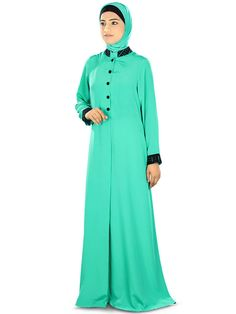 Aatikah Front Open Abaya/Jilbab AY322 Muslim Hijab Dress/ Islamic Clothing Burqa