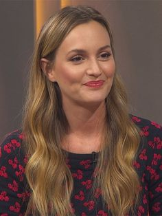 Leighton Meester in Access Hollywood March 2017, wearing an Altuzarra sweater https://www.shopstyle.com/action/loadRetailerProductPage?id=627408641&pid=uid7729-3100527-84. #style #celebstyle #altuzarra #tv