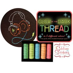 Sometimes you just need some glow-in-the dark thread. The folks at Sublime Stitching in Austin can hook you up.