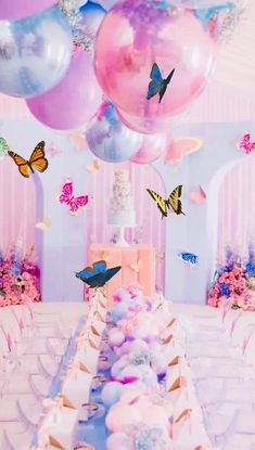 Butterfly Birthday Party, Butterfly Baby Shower, 1st Birthday Parties, Birthday Party Decorations, Graduation Parties, Butterfly Party Decorations, Birthday Boys, Birthday Themes For Girls, Sofia The First Birthday Party
