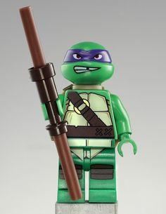 Lego Teenage Mutant Ninja Turtles Donatello minifigure. #tmnt #lego