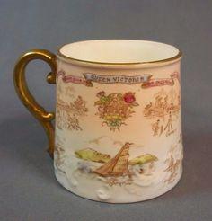 AYNSLEY QUEEN VICTORIA JUBILEE 1837-1897 MUG MANUFACTURED FOR HARRODS STORES LTD | eBay