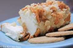 Clean Eating Pineapple & Macadamia Goats Cheese Log - The Kitchen Shed
