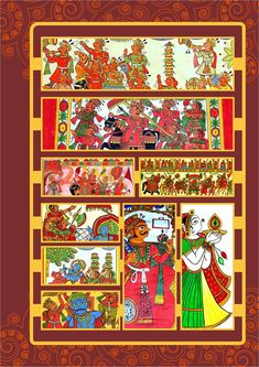 This booklet reminds you of beautiful folk painting our indian artist make. Indian Folk Art, Indian Artist, Fashion Painting, Fashion Art, Phad Painting, Types Of Art Styles, Indian Art Paintings, Art Sites, Behance