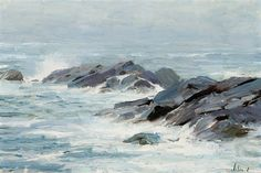 View Breakers, Isle of Monhegan by Richard Alan Schmid on artnet. Browse upcoming and past auction lots by Richard Alan Schmid. Tumblr Sketches, Ocean Artwork, Seaside Art, Gustave Courbet, Princess Drawings, Circle Art, Painter Artist, A Level Art, Art Plastique