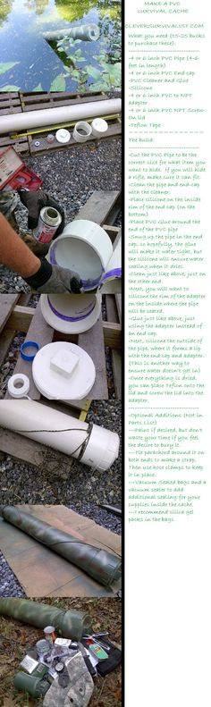 How to make PVC or 5 Gallon Survival Caches for Your Necessities