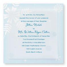 Snowy Bliss Wedding Invitations by TheAmericanWedding.com