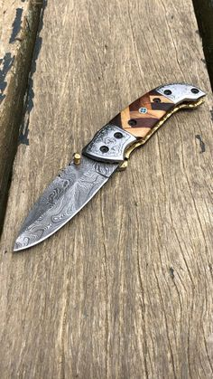 Our knives comes with a genuine leather sheath, with a belt loop on one end. Small Pocket Knives, Folding Pocket Knife, Folding Knives, Damascus Steel Pocket Knife, Damascus Knife, Steel Gifts, Ram Horns, Handmade Knives, Thick Leather