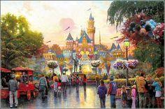 Thomas Kinkade paints Disneyland, 50th Anniversary