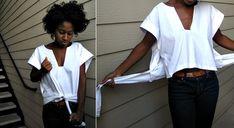 Como hacer una Camisa Abierta en Laterales Una Prenda que ya estuvo de Moda
