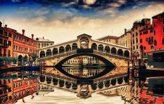 Rialto Bridge Reflection, Venice, Italy