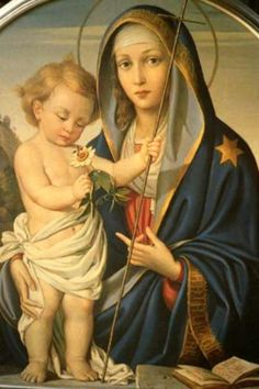 Blessed Virgin Mary and the Christ Child Blessed Mother Mary, Divine Mother, Blessed Virgin Mary, Religious Pictures, Religious Icons, Religious Art, Image Jesus, Immaculée Conception, Images Of Mary