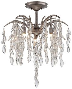 View the Metropolitan N6865-278 8 Light Semi-Flush Ceiling Fixture from the Bella Flora Collection at LightingDirect.com.