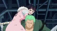 Zoro and Tashigi, from One Piece
