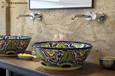 Exklusives Aufsatzwaschbecken rund aus Mexiko Modell: MEX4 Mexico von Mexambiente