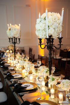 black and gold wedding at the Piedmont Estate planning by TOAST events Decor by Legendary Events Photos by Kristen Alexander