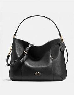 cecd08bcb2 Coach Isabelle East West Pebble Leather Shoulder Bag