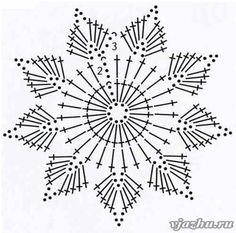 Wonderful DIY Crochet Snowflakes With Pattern - Her Crochet Maravillosos copos de nieve de ganchillo DIY con patrón - Su Crochet deko Crochet Snowflake Pattern, Crochet Stars, Crochet Snowflakes, Crochet Flower Patterns, Doily Patterns, Thread Crochet, Crochet Flowers, Crochet Diagram, Crochet Motif