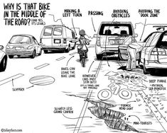 Bikeyface Cartoon Illustrates Traffic Laws